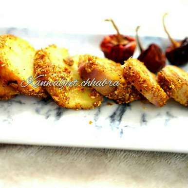 Photo of Spicy sweet potato rounds by Kanwaljeet Chhabra at BetterButter
