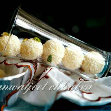 Photo of No cook Coconut laddoo by Kanwaljeet Chhabra at BetterButter