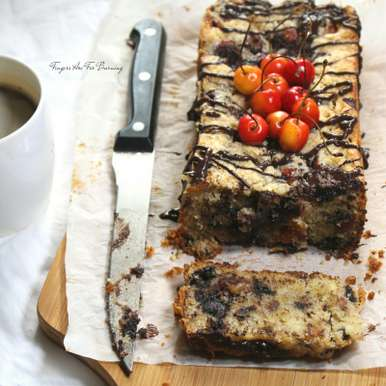 Photo of Cherry Chocolate and Almond Loaf by Karuna Kumar at BetterButter