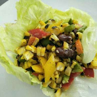 Photo of Roasted :corn: corn and bean salad by Kashish Thakur at BetterButter