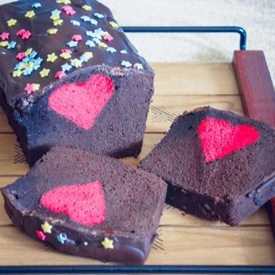 Photo of Valentine's chocolate cake by Kaveri Obhan at BetterButter