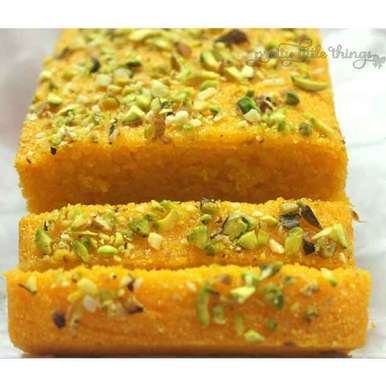 Photo of Eggless Mango Semolina Cake by Kaveri Obhan at BetterButter
