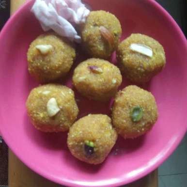 Photo of Mango Sooji Coconut Malai Ladoo by Kavi Nidhida at BetterButter