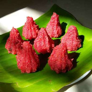 Photo of Beetroot Coconut Modak by kavita patil at BetterButter