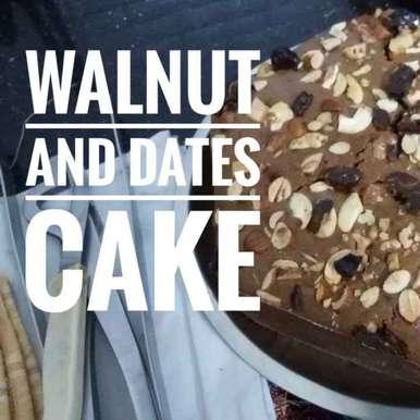 Photo of Dates n walnut cake by Kavita Sukhani at BetterButter