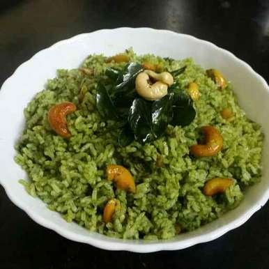 KAAJU koriyaandar rice recipe in Telugu,జీడిపప్పు కొత్తిమీర రైస్, Kavitha Perumareddy