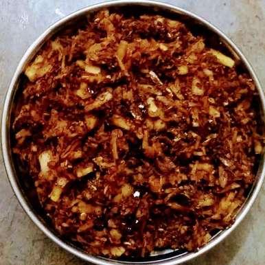Fresh coconut spice chutney  recipe in Telugu,పచ్చి కొబ్బరి కారం, Kavitha Perumareddy