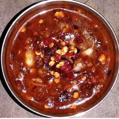 NALUCHUDU kaaram recipe in Telugu,నలుచుడు కారం, Kavitha Perumareddy
