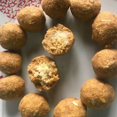 Photo of stuffed Besan ladoo by Khushboo Batra at BetterButter