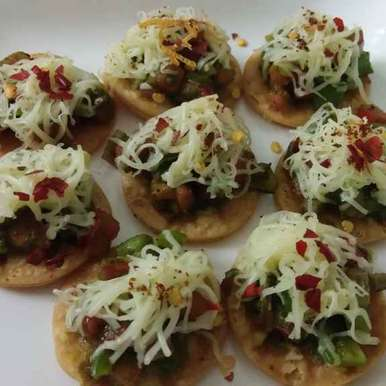 Photo of Mini Puri Pizza by Khushboo Doshi at BetterButter