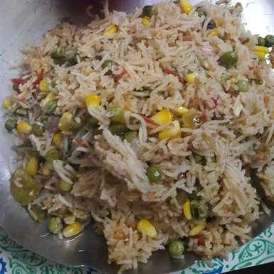 Vejrice recipe in Telugu,వెజ్ రైస్, Kiran Gopisetti