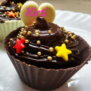 Photo of Chocolate mousse in chocolate cups by Kirti Das at BetterButter