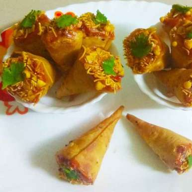 Photo of Cone Samosa with paneer stuffing by Kirti Das at BetterButter