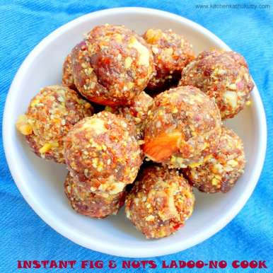 Photo of INSTANT FIGS & DRY FRUITS LADOO/BALLS – A NO COOK RECIPE by Kitchen Kathukutty at BetterButter