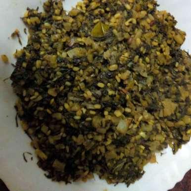 Photo of Radish  leaf moongdal fry  by Krishnakumari Marupudi at BetterButter