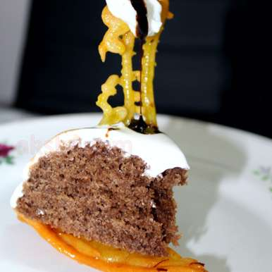 Photo of Eggless Chocolate Cake with a Jalebi Crust by Krithika Chandrasekaran at BetterButter