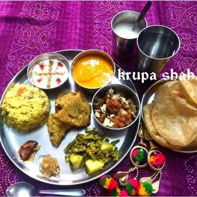 Photo of Gujarati lunch thali by Krupa Shah at BetterButter