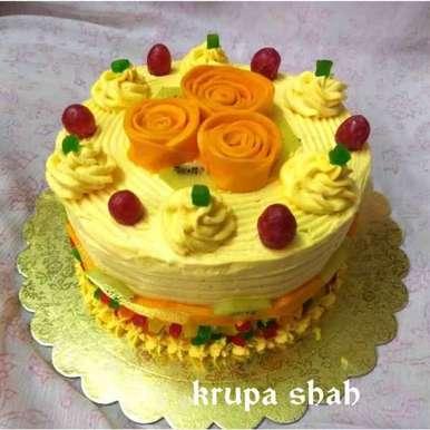 Photo of Mango Mastani Cake by Krupa Shah at BetterButter
