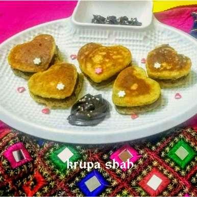 Photo of Heart Malpua Sandwich by Krupa Shah at BetterButter