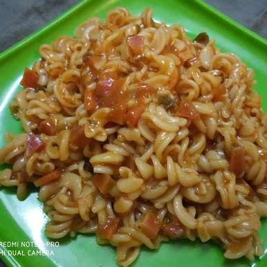 Photo of Red Sauce Fusilli pasta by Kuldeep Kaur Arora at BetterButter