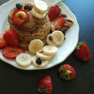 Photo of Whole Wheat Pancakes by Kumuda Elavazhagan at BetterButter