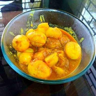 Boiled egg curry recipe in Bengali,ডিমের ঝোল, Keya Deb