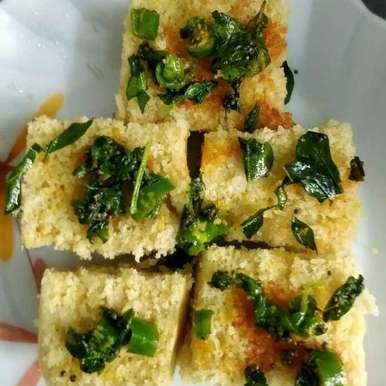 Cooked Rice Dhokla recipe in Tamil,சாத டோக்ளா, Sowmya Sundar