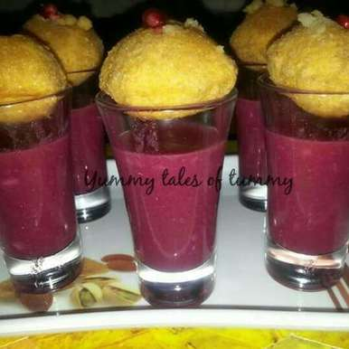 Photo of Pani poori with fruit punch by Lata Lala at BetterButter