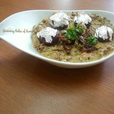 Photo of Chandi Ke Mung(stuffed khoyaballs ingreen lentils) by Lata Lala at BetterButter