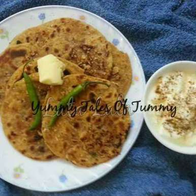 Photo of Papad Paratha by Lata Lala at BetterButter