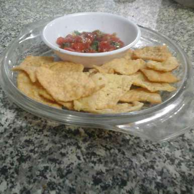 Photo of Nacho Chips with Salsa. by Latha Nair at BetterButter