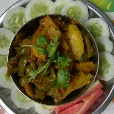 Photo of Panjabi shimla mirch aalloo ki sabzi (tangy capsicum and potato ) by pallavi Nayyar at BetterButter