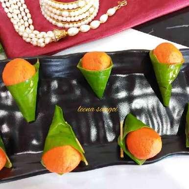 Photo of Orange Paan RWasgulla by Leena Sangoi at BetterButter