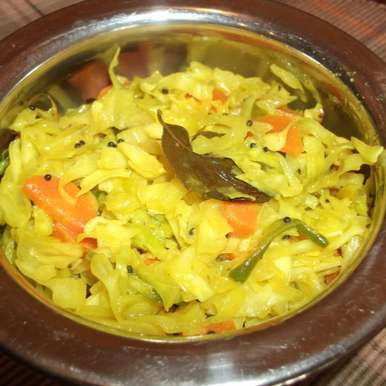 Photo of Cabbage and Carrot Sambharo /Quick Stir fry of Cabbage and Carrot by Linsy Patel at BetterButter