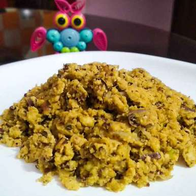 Fish Eggs Bhaji With Mustard And Poppy Seeds