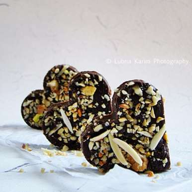 Photo of Rich Chocolate Fudge With Mixed Nuts by Lubna Karim at BetterButter