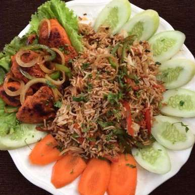 Photo of Veg Grilled Fried Rice with Chilly Grilled Chicken Breast by Lubna Sharif at BetterButter