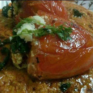 Photo of Stuffed tomato in gravy by Madhu Makhija at BetterButter
