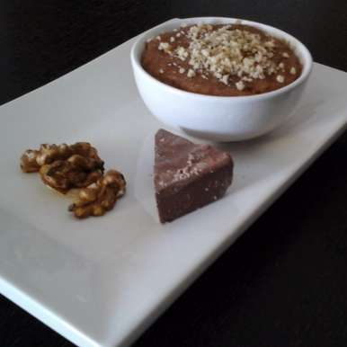 Photo of Chocolate  Coconut  Phirni  with  walnut by Madhu Parwani at BetterButter