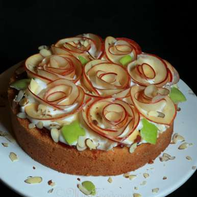 Photo of Apple Rose Bouquet Cake by Madhuli Ajay at BetterButter