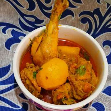 Photo of Aloo murgir jhol ( masala chicken curry with potato ) by Mahek Naaz at BetterButter
