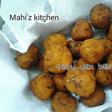 Photo of Crispy Yam balls by Mahi Venugopal at BetterButter