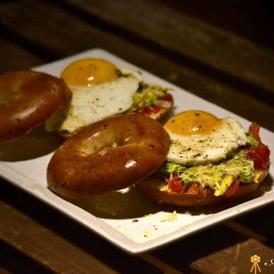 Photo of Loaded Guacamole Bagels by Mallika Chaudhary at BetterButter