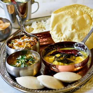 A Unique Festive Traditional South Indian Thali!