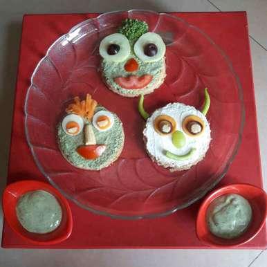 Photo of Open sandwich witn mint spread by Mamta Joshi at BetterButter