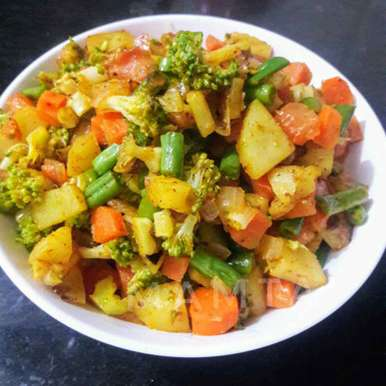 Stir fried vegetable ( chinese flavour ) recipe in Hindi,स्टिर फ्राइड वेजिटेबल (चाइनीज़ फ्लेवर ), Mamta Joshi