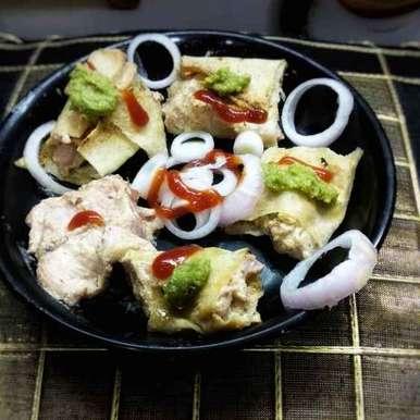 Photo of Chicken tikka in dosa wrap by Mamta Rastogi at BetterButter