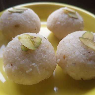 Photo of Coconut Ladoo (No cook Recipe) by Manisha Khatavkar at BetterButter