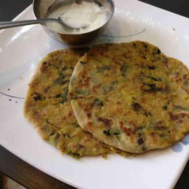 Photo of Corn, Cauliflower and Spinach Paratha. ( Adding  protein for kids) by Manisha Shukla at BetterButter