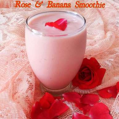 Photo of Rose and Banana Smoothie by manju shah at BetterButter